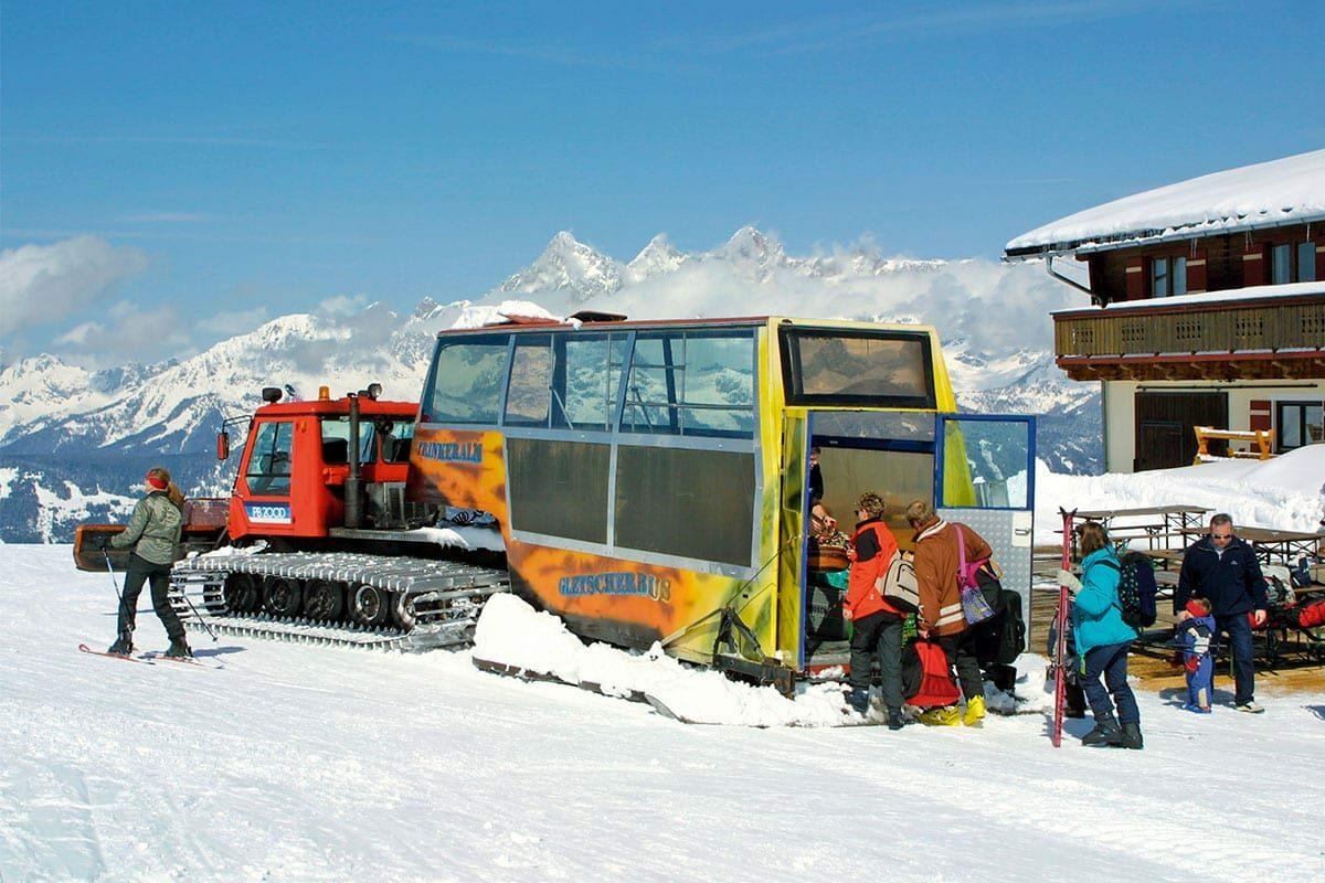 Gletscherbus - Gepäckstransport auf die Trinkeralm