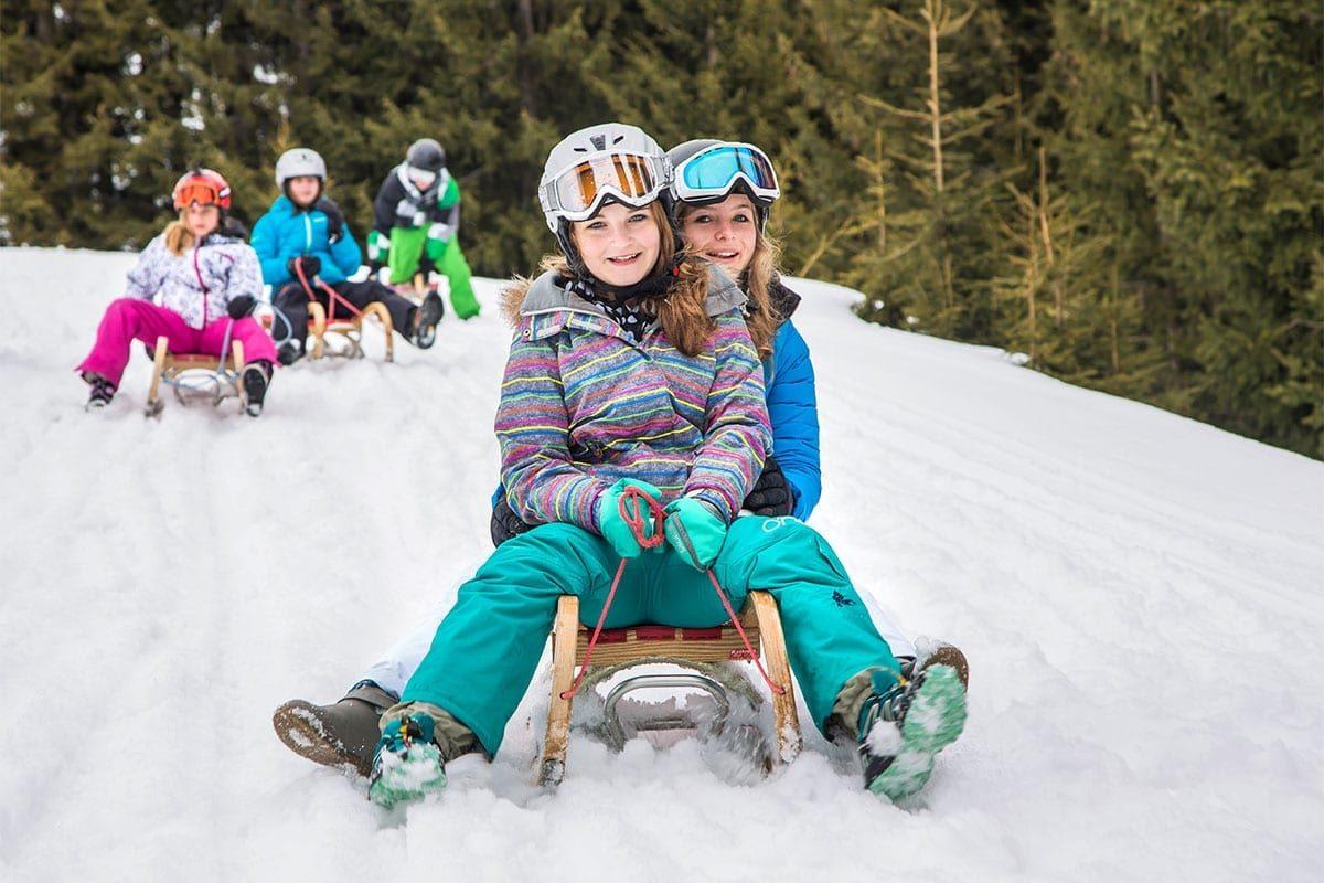 Rodeln im Winterurlaub im Salzburger Land